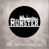 Münster Sticker (rund - 10x10 cm - 4er Package)