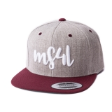 Münster Snapback Cap - MS4L Handletter (Heather Maroon)